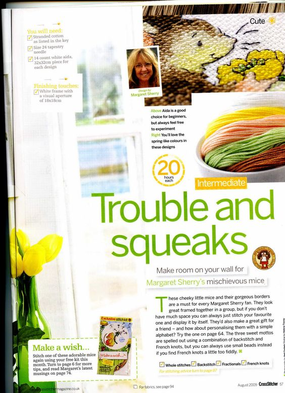 Trouble And Squeaks (Margaret Sherry) From Cross Stitcher N°215 August 2009 2 of 5