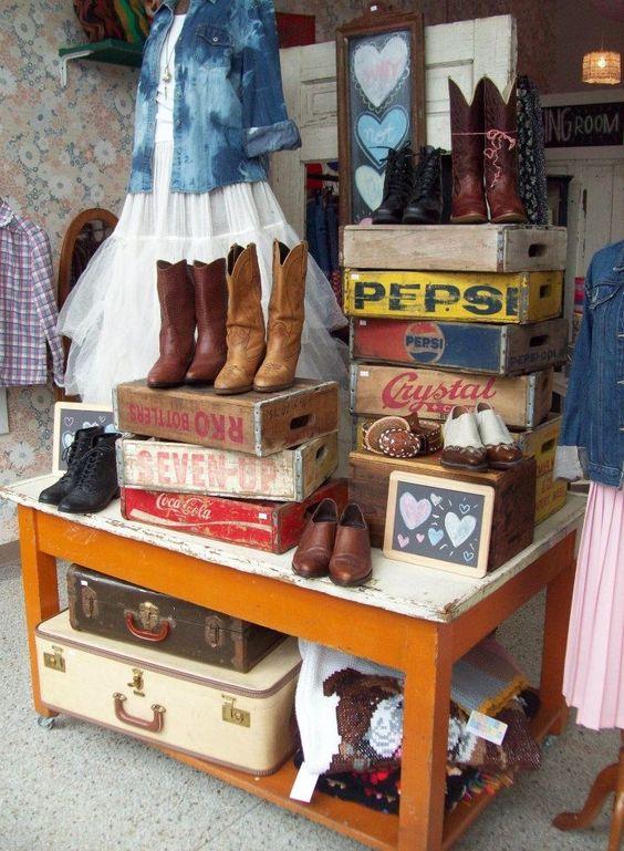 antique store display ideas | Hot House Market: Rustic, vintage, western display