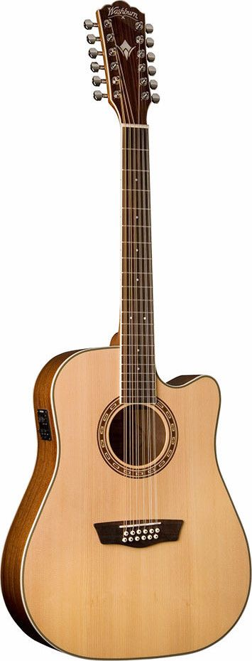 2015 Washburn WD10SCE-12 12 String Solid Top Acoustic Electric Guitar