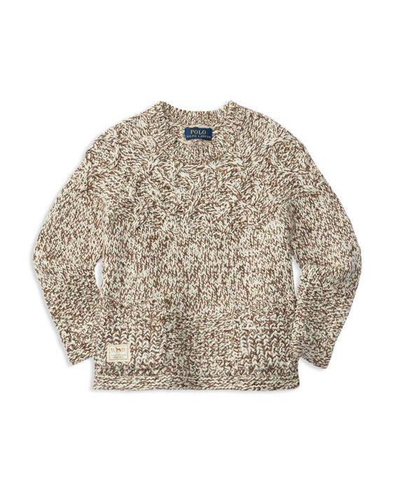 Ralph Lauren Childrenswear Girls' Marled Cable Sweater - Sizes 2-6X