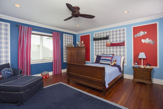 Image result for red, white and blue bedrooms
