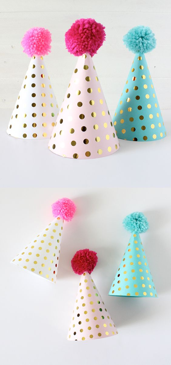 Free Party Hat SVG file and PDF template - Click to learn how to make your own party hats! #freeprintable #partyprintable