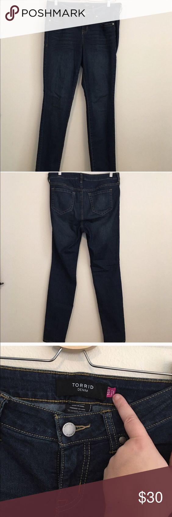 Torrid Dark Blue Jeans Torrid Dark Blue Jeans, size 14. Brand new, never worn. torrid Jeans