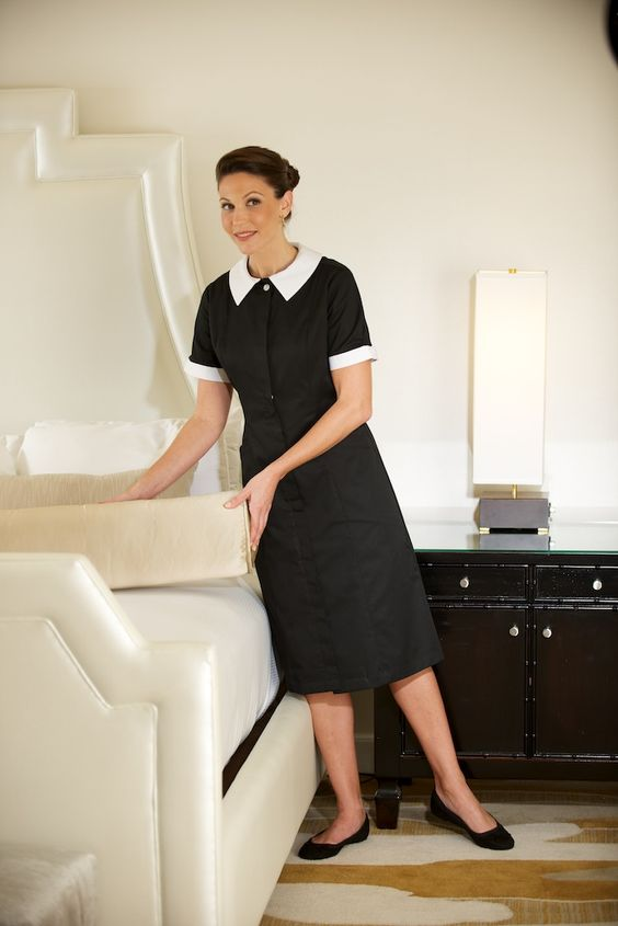 Aster modern housekeeping dress hotel kleding - Uniforme femme de chambre hotel ...