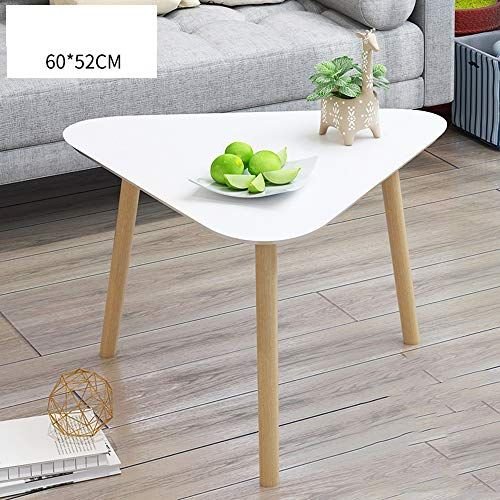 Home Modern Coffee Table Decoration Side Table With Wooden Legs