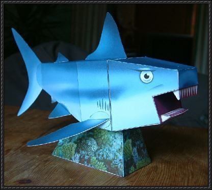 Animal Paper Model - Shark Free Template Download