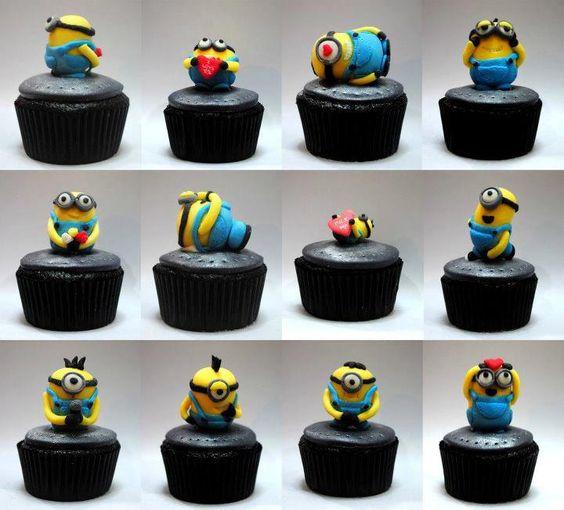 Minion cupcakes! Despicable Me.