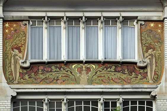 Sgraffite, Maison particulière par Albert Roosenboom, n°83 rue Faider