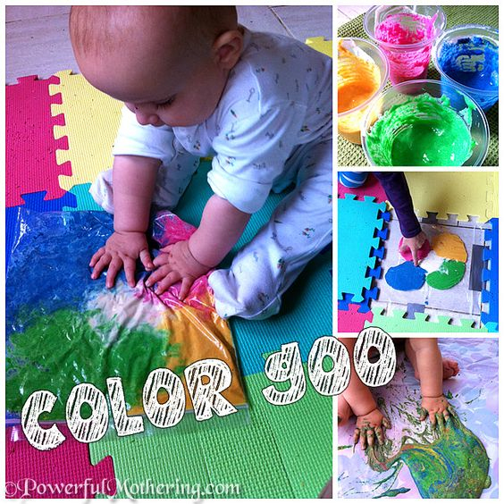 Gooey Color Paint Exploring | Powerful Mothering