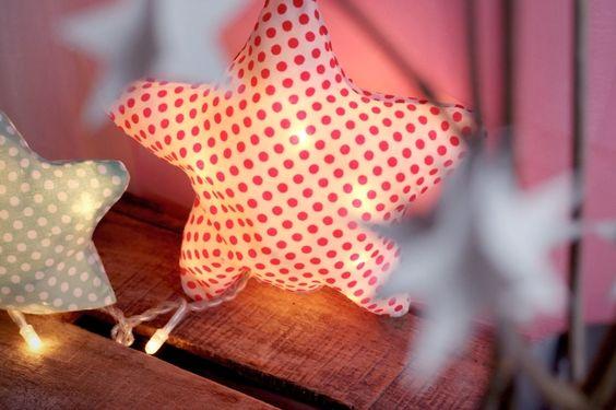 Tutoriel pour fabriquer une lampe étoile en tissu