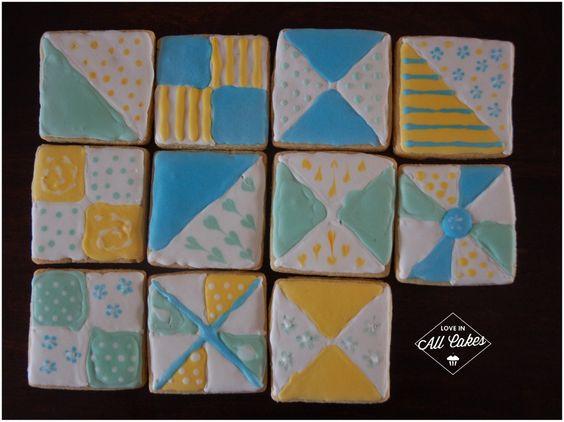Quilt Kekse   Quilt cookies