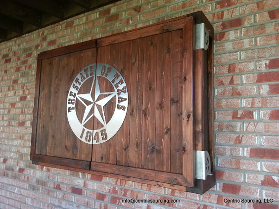 Captivating Outdoor TV Cabinet Needs To Have Combo Of TCU And Baylor On There!