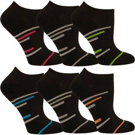 Fruit of the Loom Women's Sport Socks, 6-Pack, Size: 4-10, Multicolor