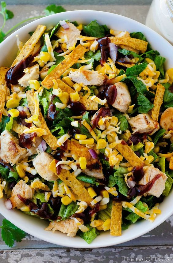 BBQ Chicken Salad - Life In The Lofthouse