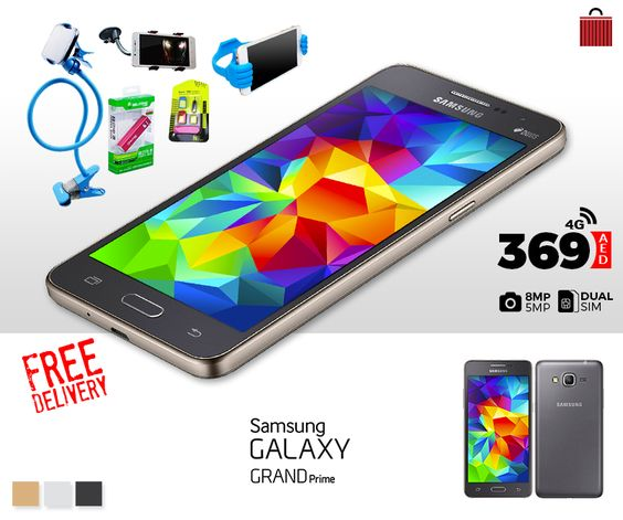 From fast internet to HD screen, Samsung Galaxy Grand prime has everything you need, Buy now! Get all this in 369 AED with Free Delivery!! *Cash on Delivery Available* Whatsapp to buy>> +971569202356