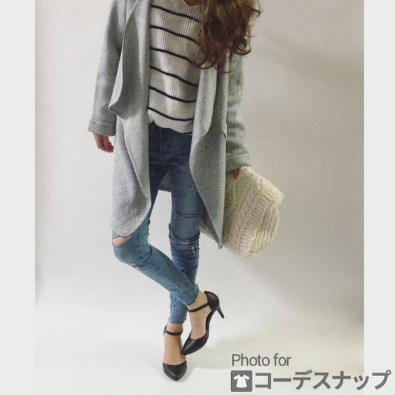 REMAさんのニットクラッチ ファッションコーディネート