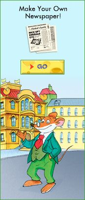 Geronimo Stilton, Editor, The Rodent Gazette | Scholastic.com