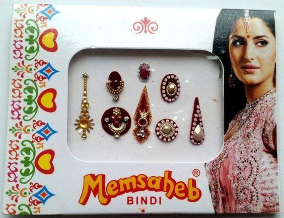 8 stk Indisk bindi | Alternativ nettbutikk med organiske smykker og klær…