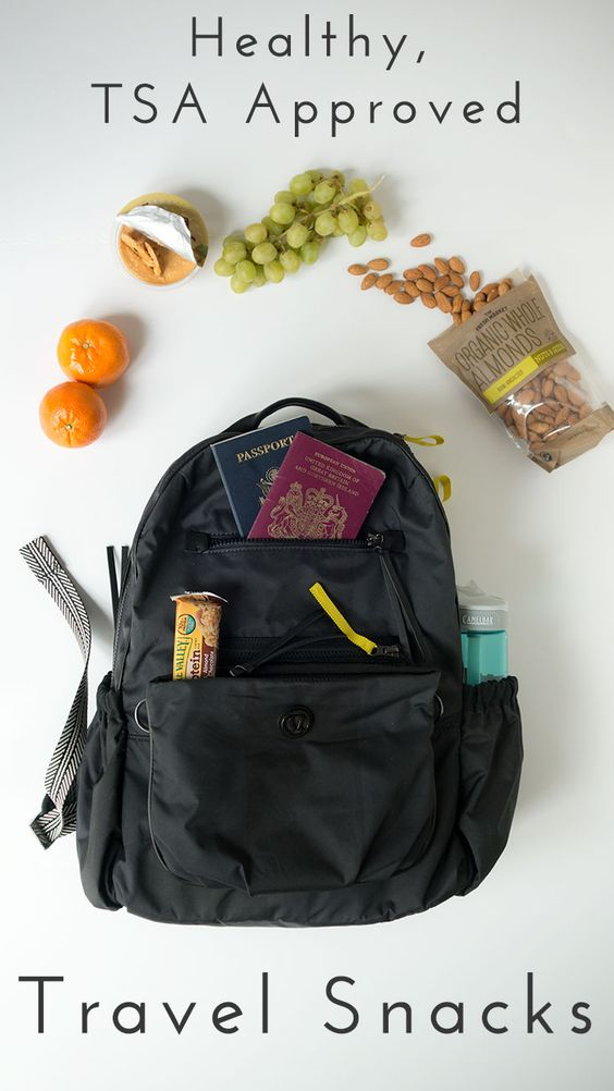 Travel Tips :: A full list of TSA approved carry-on foods. Use this list to chose some healthy alternatives to expensive airport junk food. Click through for the full list!