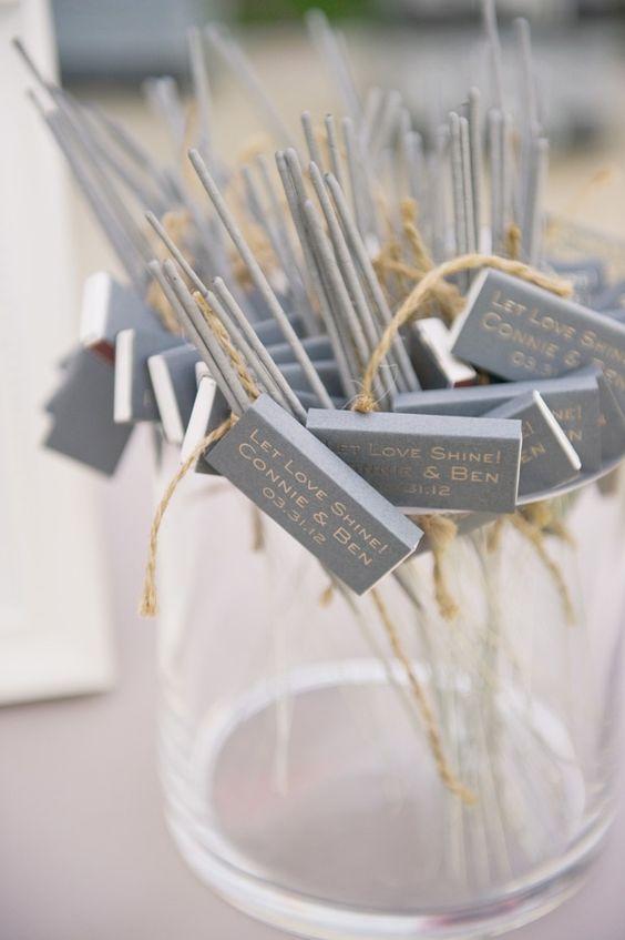 L'inspiration mariage de l'été : des cierges magiques… mais pas seulement