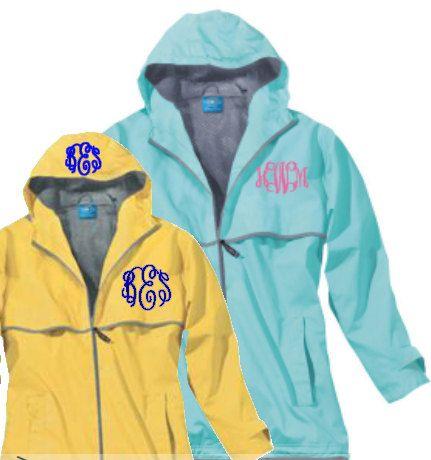 Charles River Rain Jacket Monogrammed rain jacket by Baileywicks