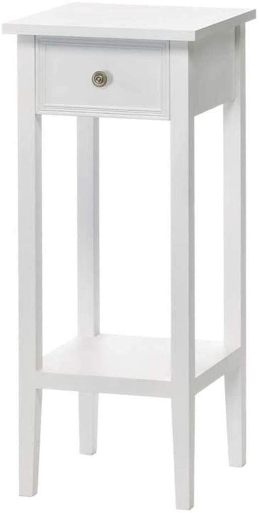 White Accent Table Or Plant Stand In 2020 Small White Bedside Table White Side Tables Small Bedside Table