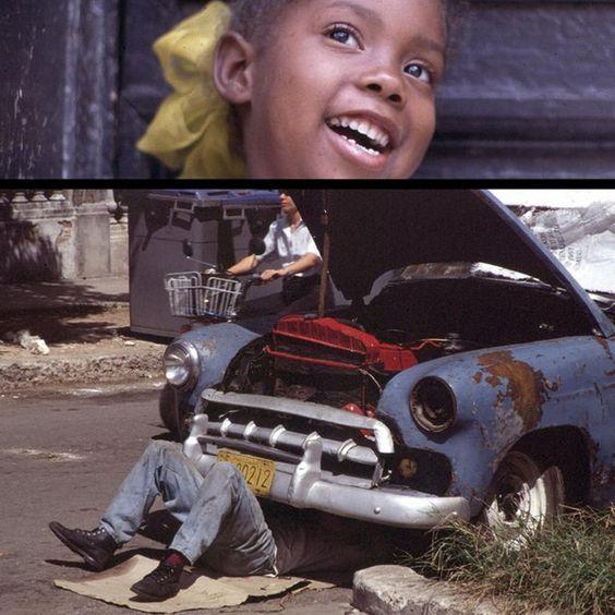 'CUBA 1996', collage fotografico su alluminio, 30x30cm, 2014