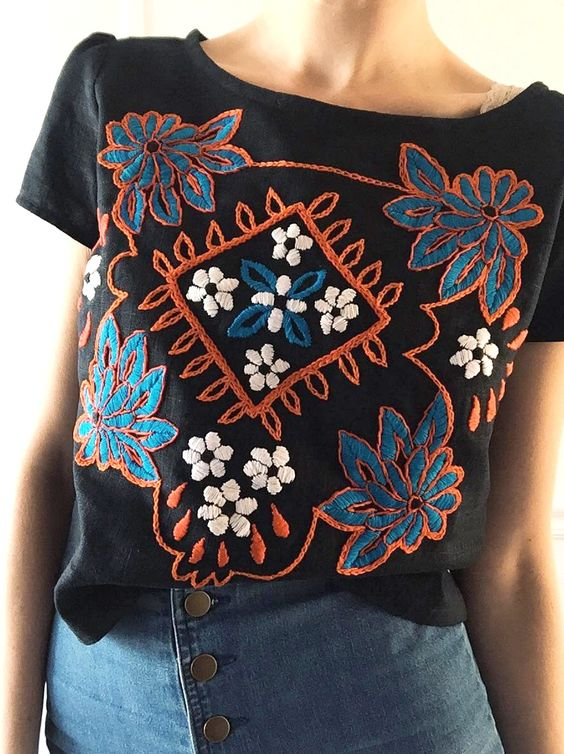 Hand Embroidered Top   Tessa Perlow on Etsy