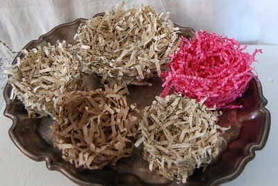 how to make a birds nest with shredded paper
