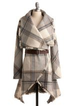 Love this!: Marshmallow Coat, Wrap Coat, Blanket Coat, Coat Modcloth, Homemade Marshmallows, Marshmallows Coat, Vintage Coat, Plaid Coat