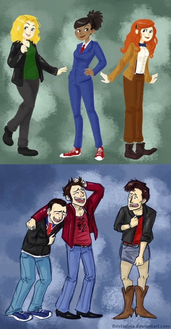 Nine and Ten's reactions to Eleven's outfit makes me laugh every time.