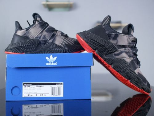 info for d2c0b 07f7a Real Adidas Prophere Rogue Denim Bleached Camo Black Solar Red Dark Grey  DB1982