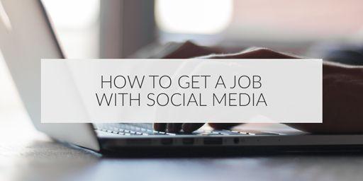 #SocialMedia can help you get a job!