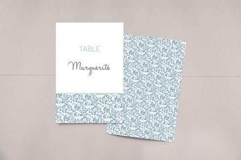 marque-table mariage simplement liberty par Tomoë pour www.fairepart.fr #mariage #wedding #weddingtable