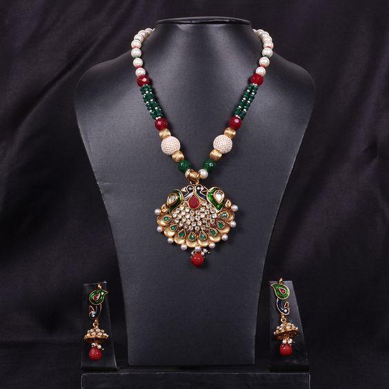 Pearl Mala Set - WJ0370 Bridal Jewellery  Mala Sets