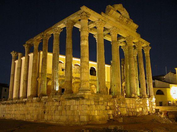 Templo de Diana en Merida Badajoz España