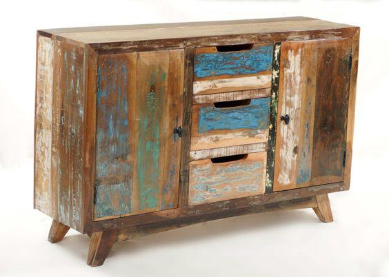 Sideboard aus altem Holz Shabby Chic bei Möbelhaus Hamburg