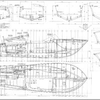Classic Wooden Boat Plans Riva Aquarama Sheet