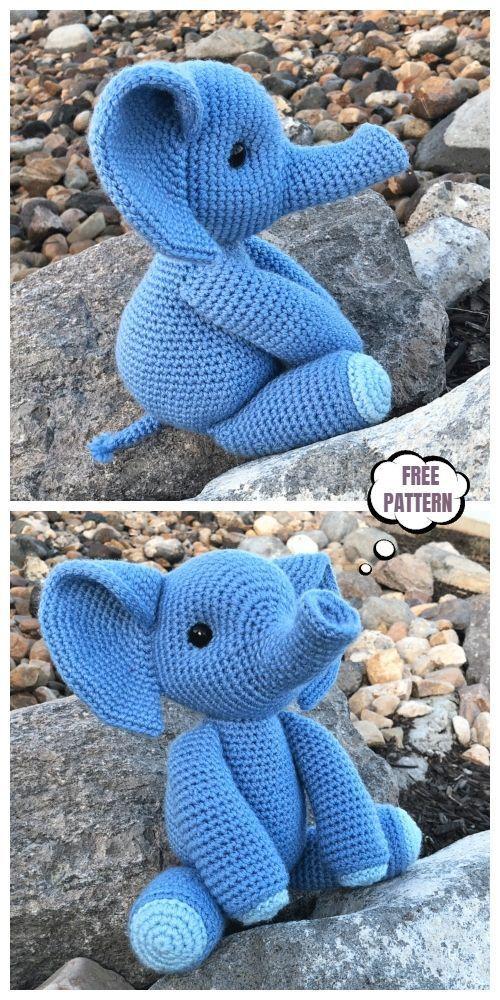Gustav, Elephant Amigurumi Free Pattern – Free Amigurumi Patterns ...   1000x500