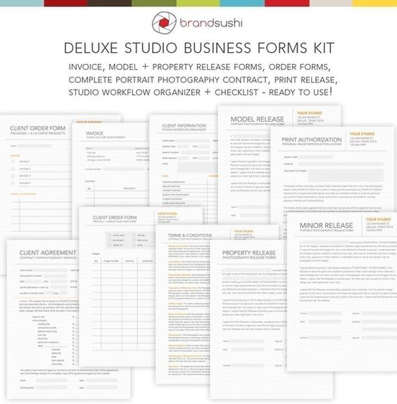Deluxe Studio Business Forms Kit  Release Invoice Contract