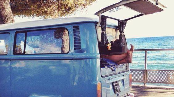Summer relax in my vw bus #vw #volkswagen #bus #camper #t2 #van #camping #glamping