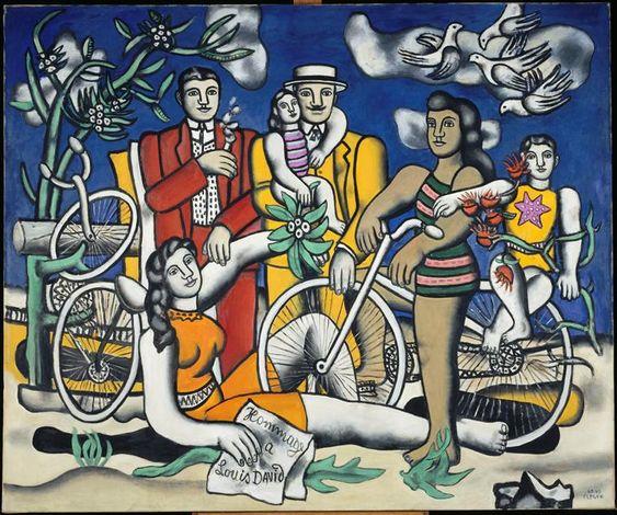 Fernand Léger ( 4 févr. 1881 - 17 août 1955) Les Loisirs - Hommage à Louis David, 1948 - pigeons and doves in art