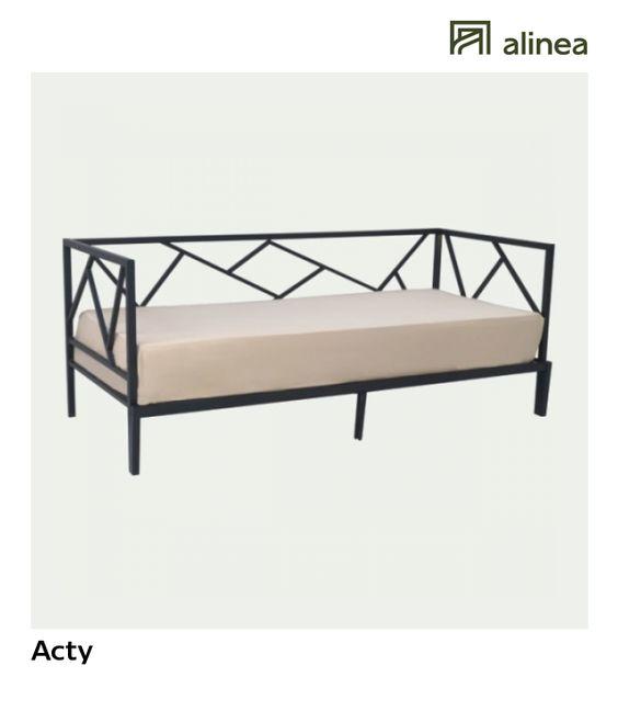 Alinea Acty Lit Banquette Gigogne Noir En Acier 90x200cm Meubles Chambre Lits Alinea Decoration Lit Noi Outdoor Sofa Furniture Outdoor Furniture