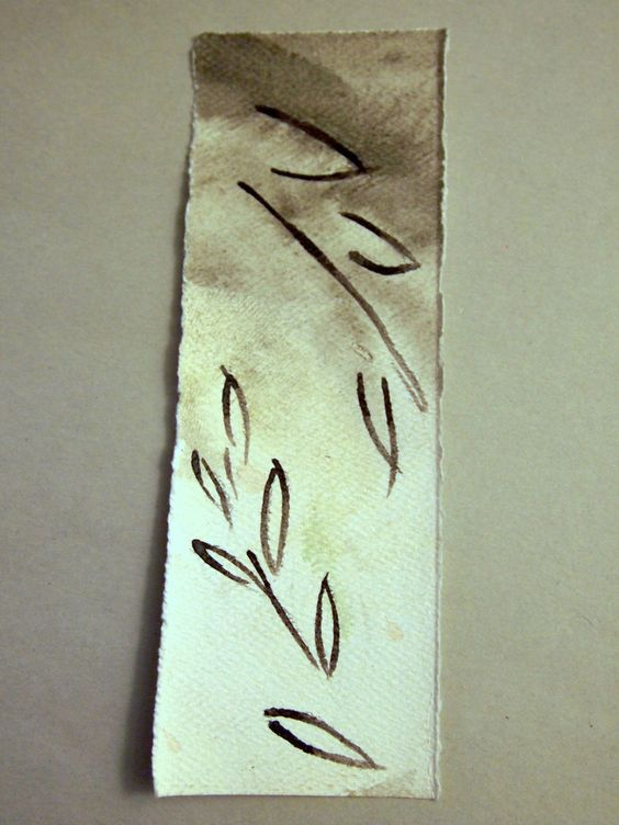 Simple scene bookmark in black and white - leaves – The Casual Reply Arts & Crafts