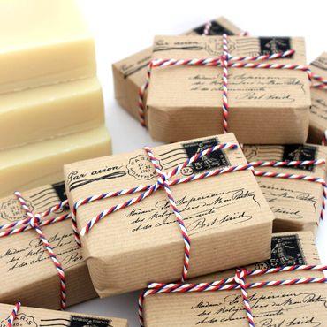 Postal soap packaging