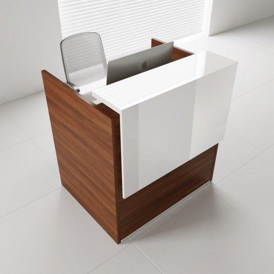 Tera Small Reception Desk W Light Panel, Small Reception Desk Ideas