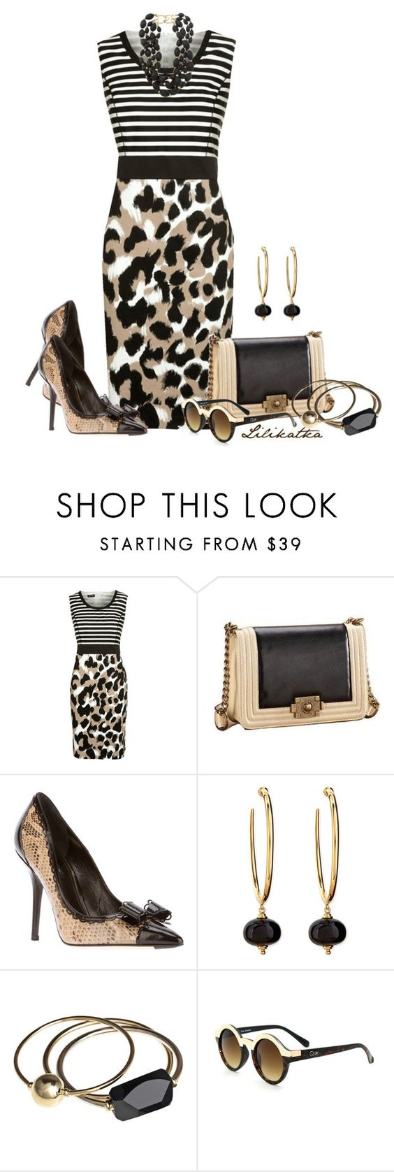 """""""Pivonka#982"""" by lilikatka ❤ liked on Polyvore featuring Gerry Weber, Dolce&Gabbana, Syna, By Malene Birger, Kenneth Jay Lane and Quay"""