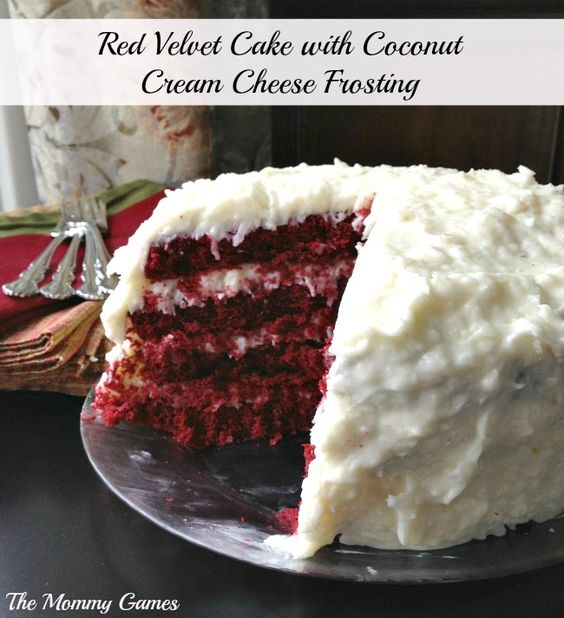 Red velvet cakes, Velvet cake and Coconut cream on Pinterest