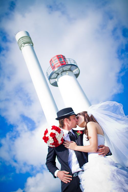 Long Beach Light House Wedding Shoot