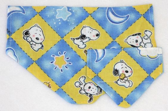 Puppy/Dog Bandana - S-M - Baby Snoopy and Woodstock - Cotton - FREE Shipping by PatienceWayShop on Etsy